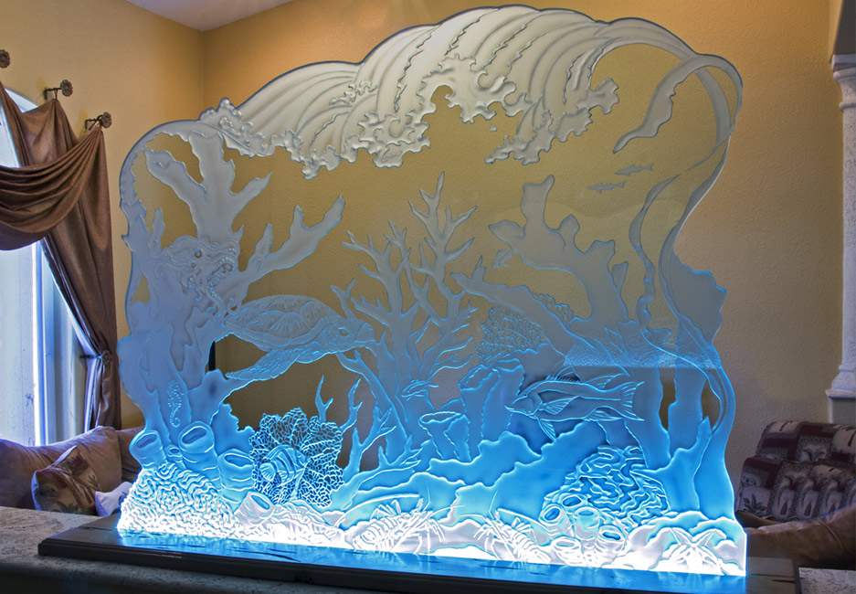 Custom Etched Glass, Etched Glass Windows & Sandblasted Glass Design