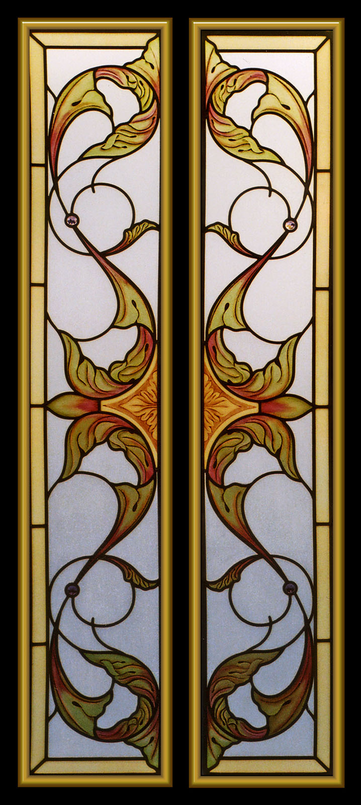 Carved Painted Cabinet Doors Glass Menagerie