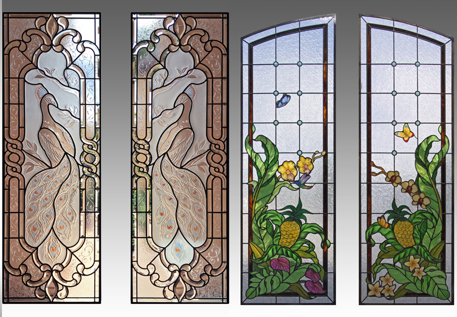 Extraordinary stained glass window designs home photos for Custom transom windows