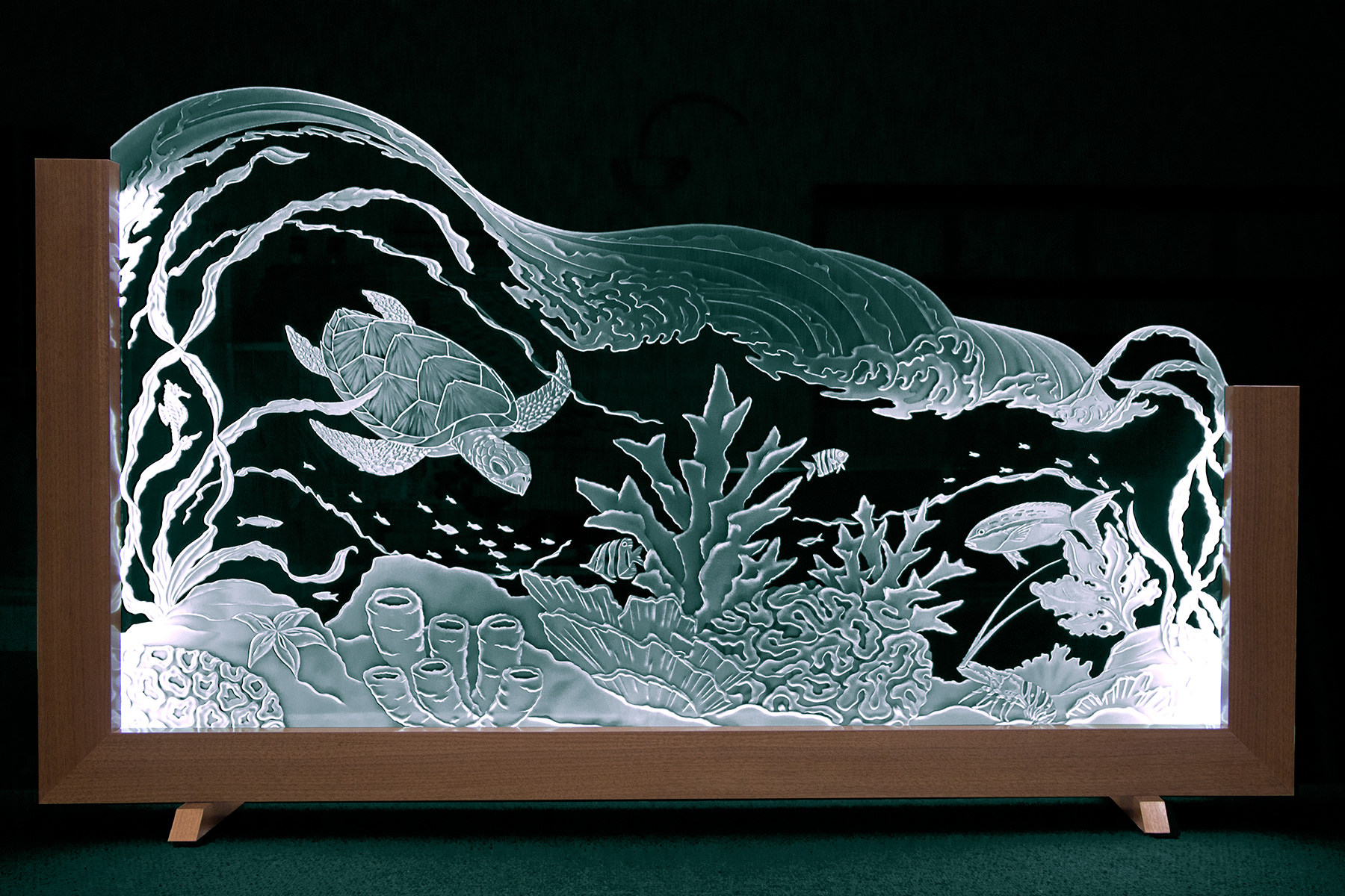 , Watch This Video Unveiling an Impressive Carved Panel with LED Lights