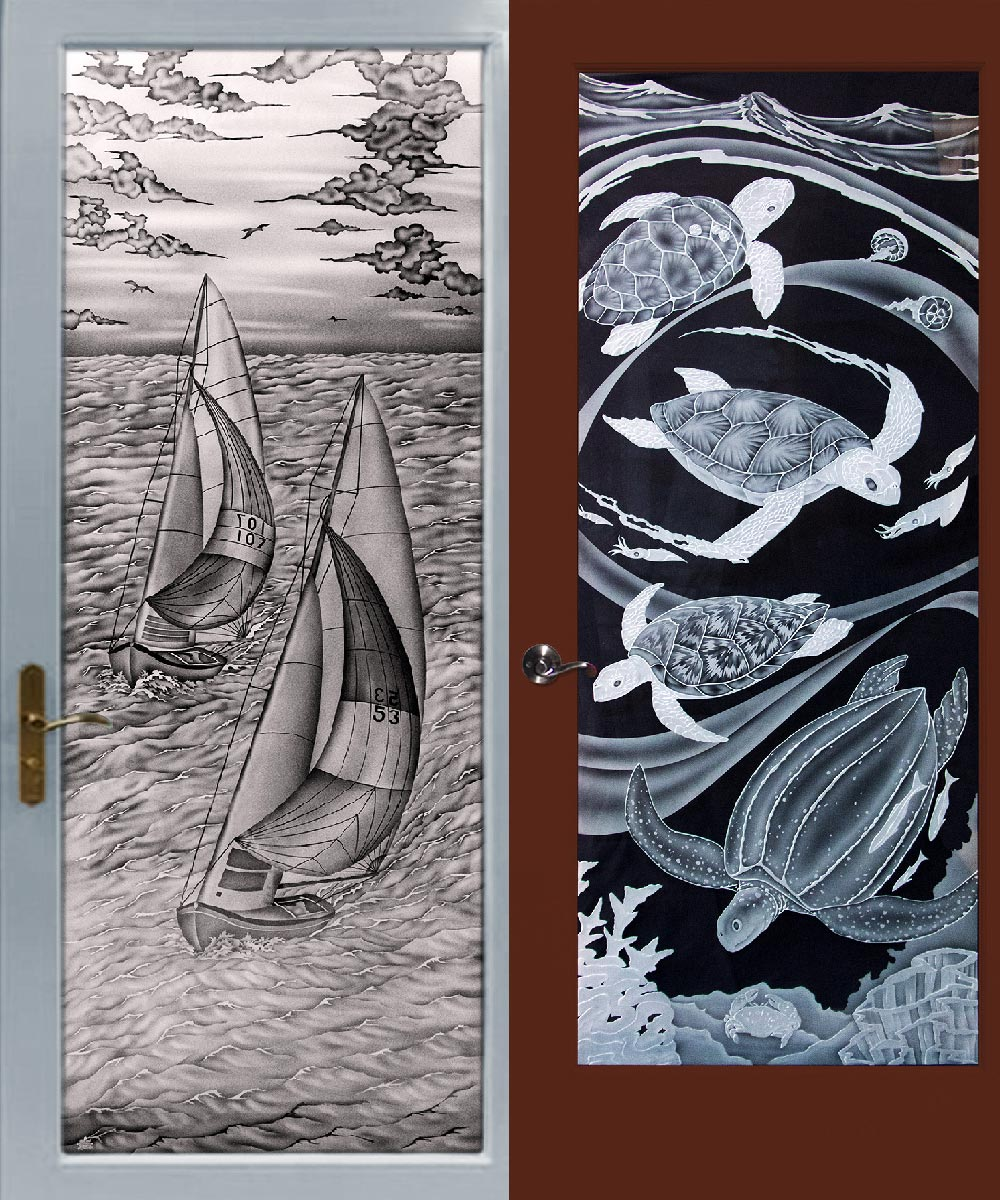 Etched Glass Windows - Sandblasted Glass Panels for Doors